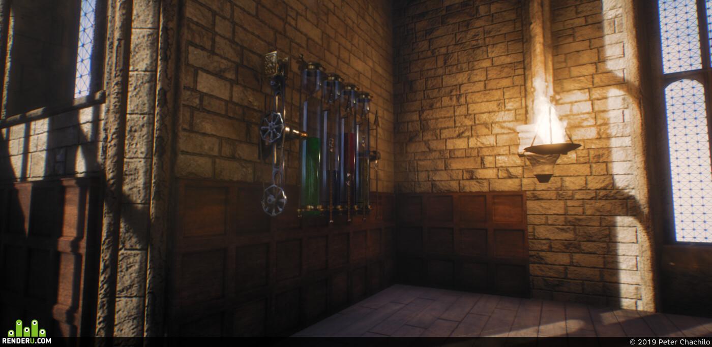 Blender, Unreal Engine, Hogwarts, substance painter, substance designer, substanse, substancepainter, PBR, lowpoly