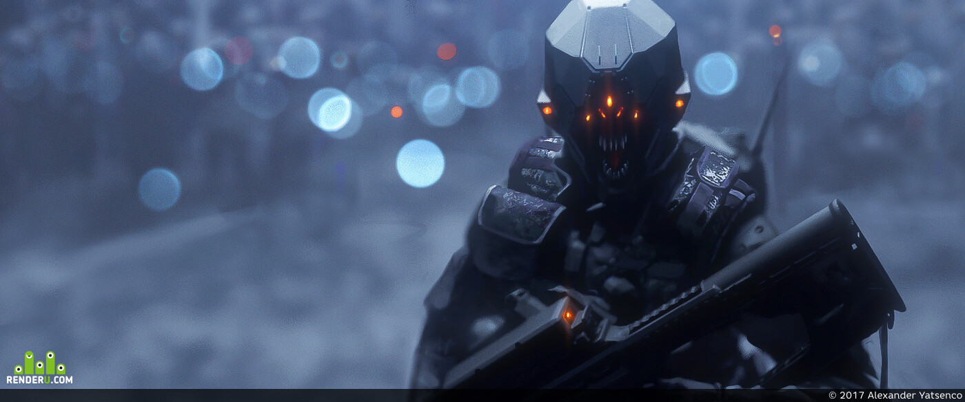 Digital 2D, Characters, Concept Art, Science fiction