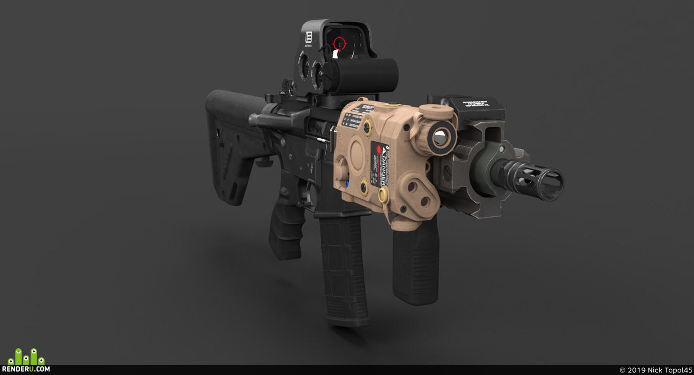 оружие, винтовка, карабин, оптика