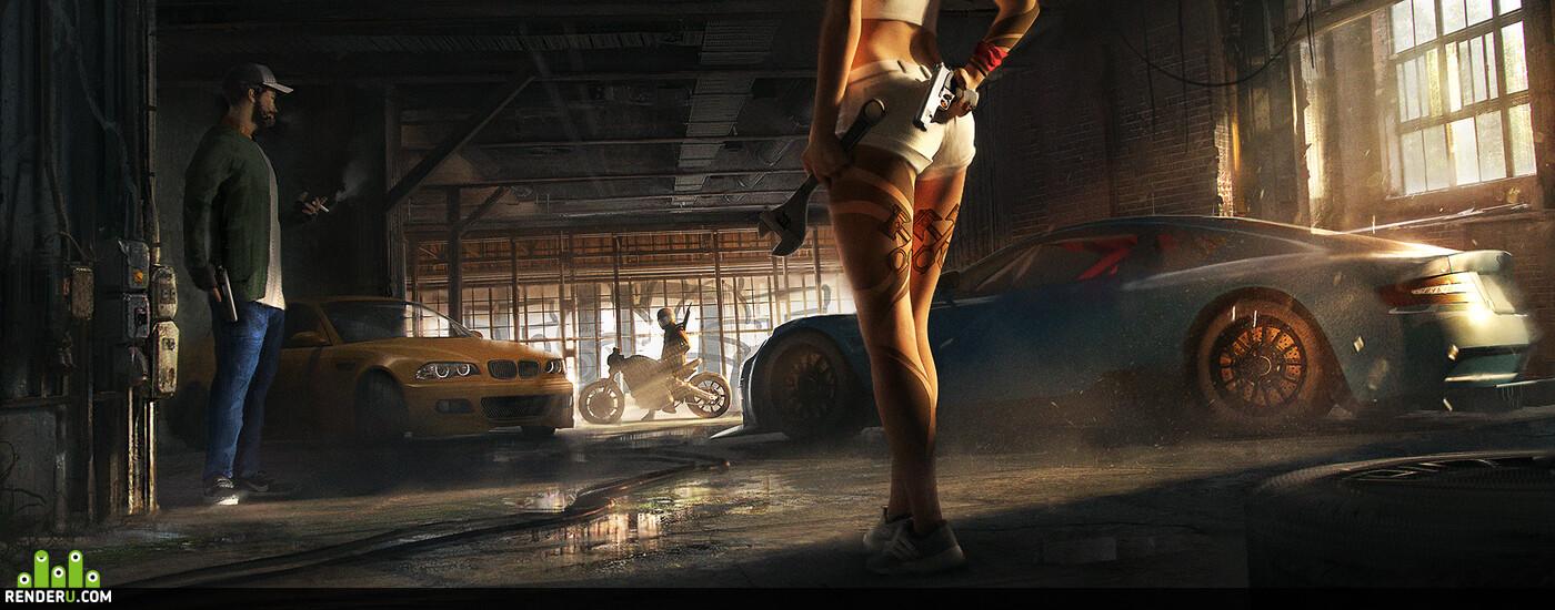 татту, герла, пистон, машины, фабрика, завод, заброшенный, граффити, гонка, мото