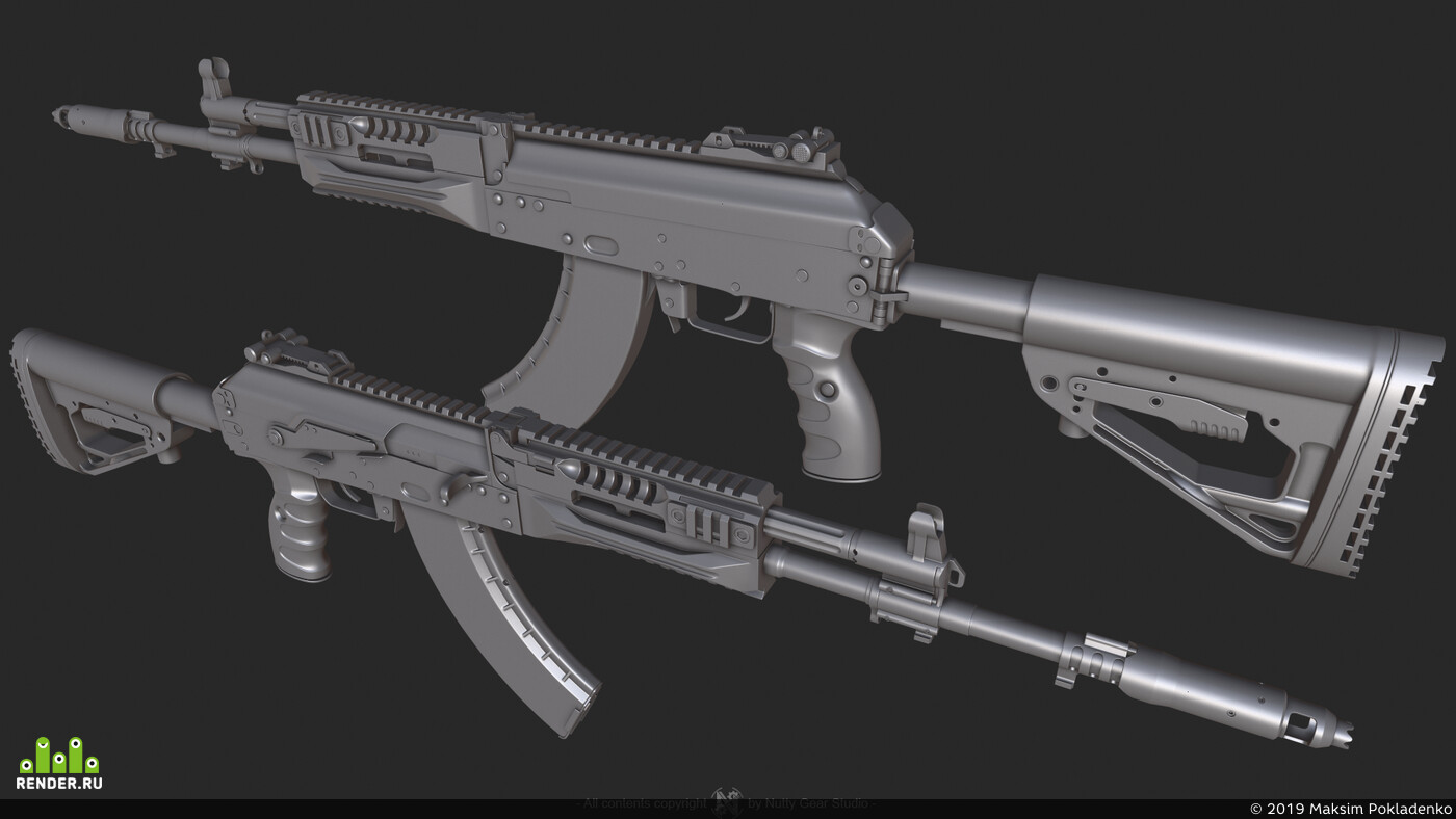 Russia, military, War, RPK-16, game, Highpoly, guns, gun, special forces, ak-12