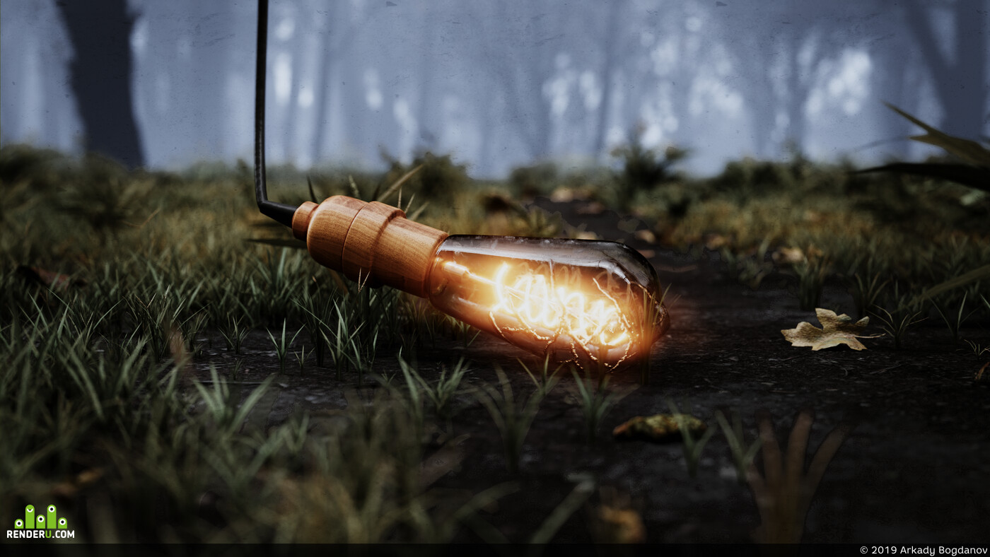 Nature, light bulb