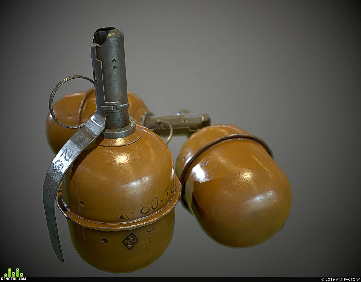 F1 grenade and RGD 5 (TNT) - World War II