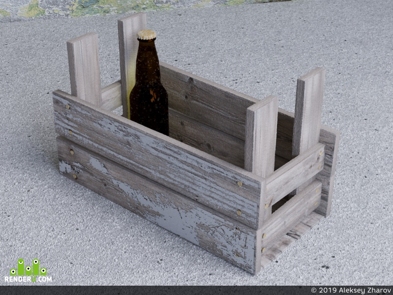 Ящик, бутылка, alexdouble, ретро
