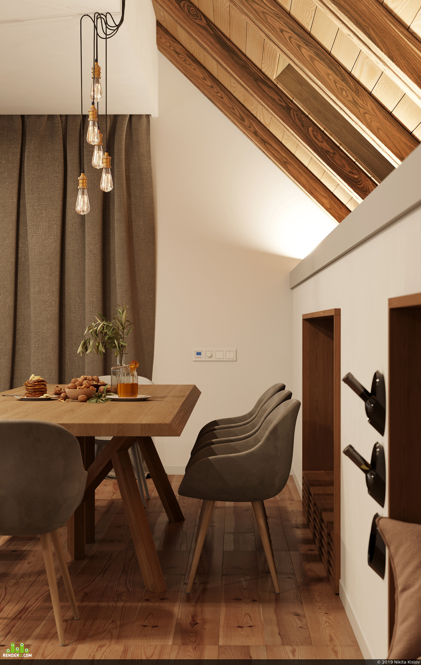 кухня, светлая кухня, interior interior design design 3D 3D Studio Max 3D архитектура интерьер дизайн интерьера интерьер, visualization