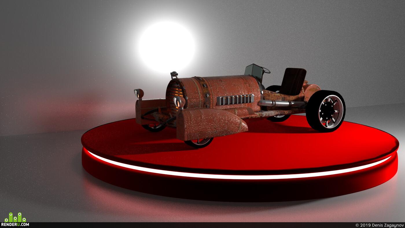 3d, 3D композ, 3D шоурил, 3D реклама, 3dmodels, машина, сюзанна, стимпанк