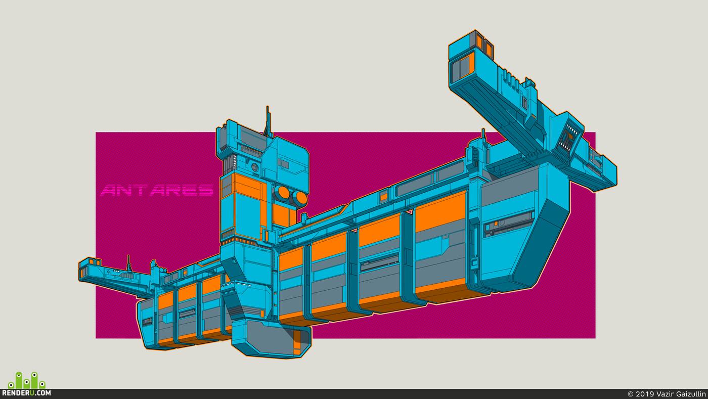 Концепт-арт, Космический корабль