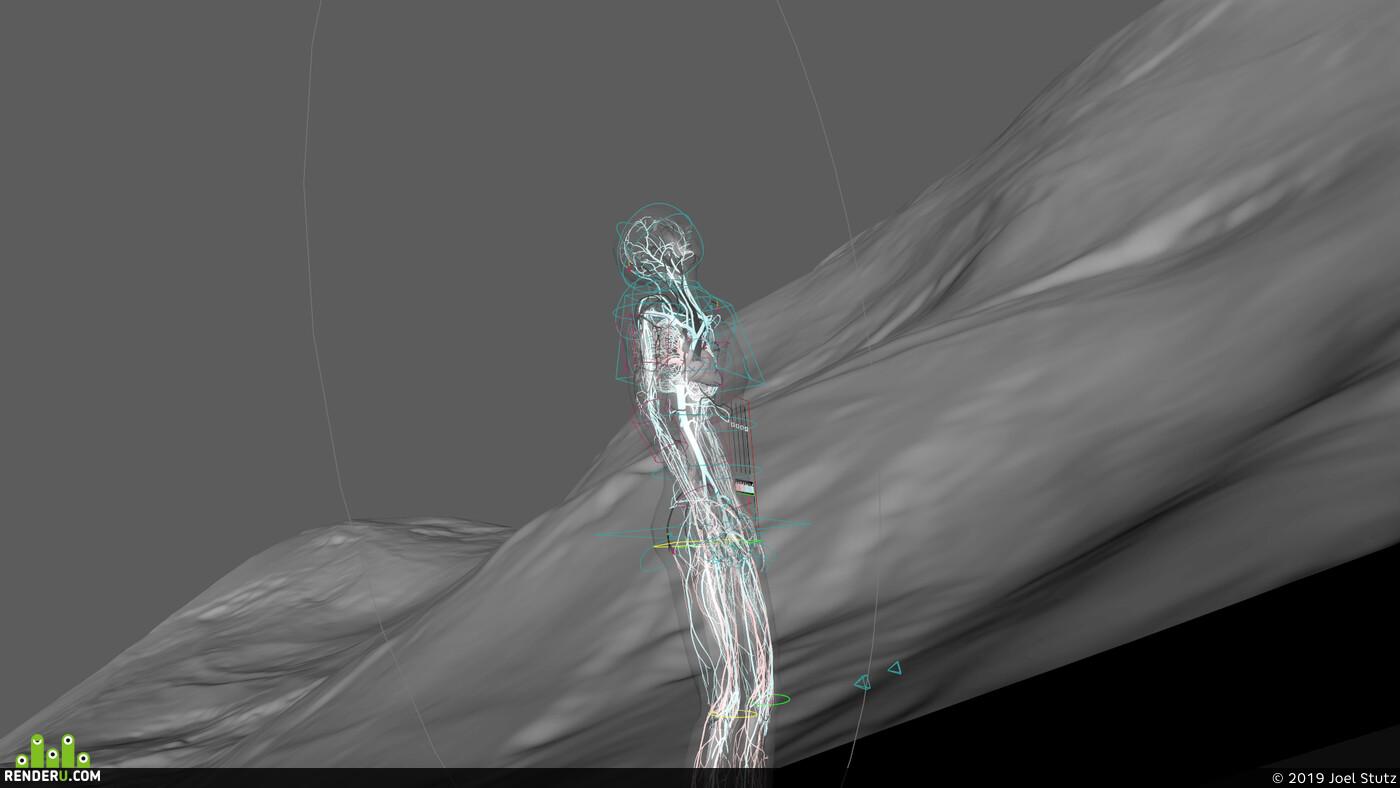 3D сердце, 3D making of, 3D heart animation, Сердце