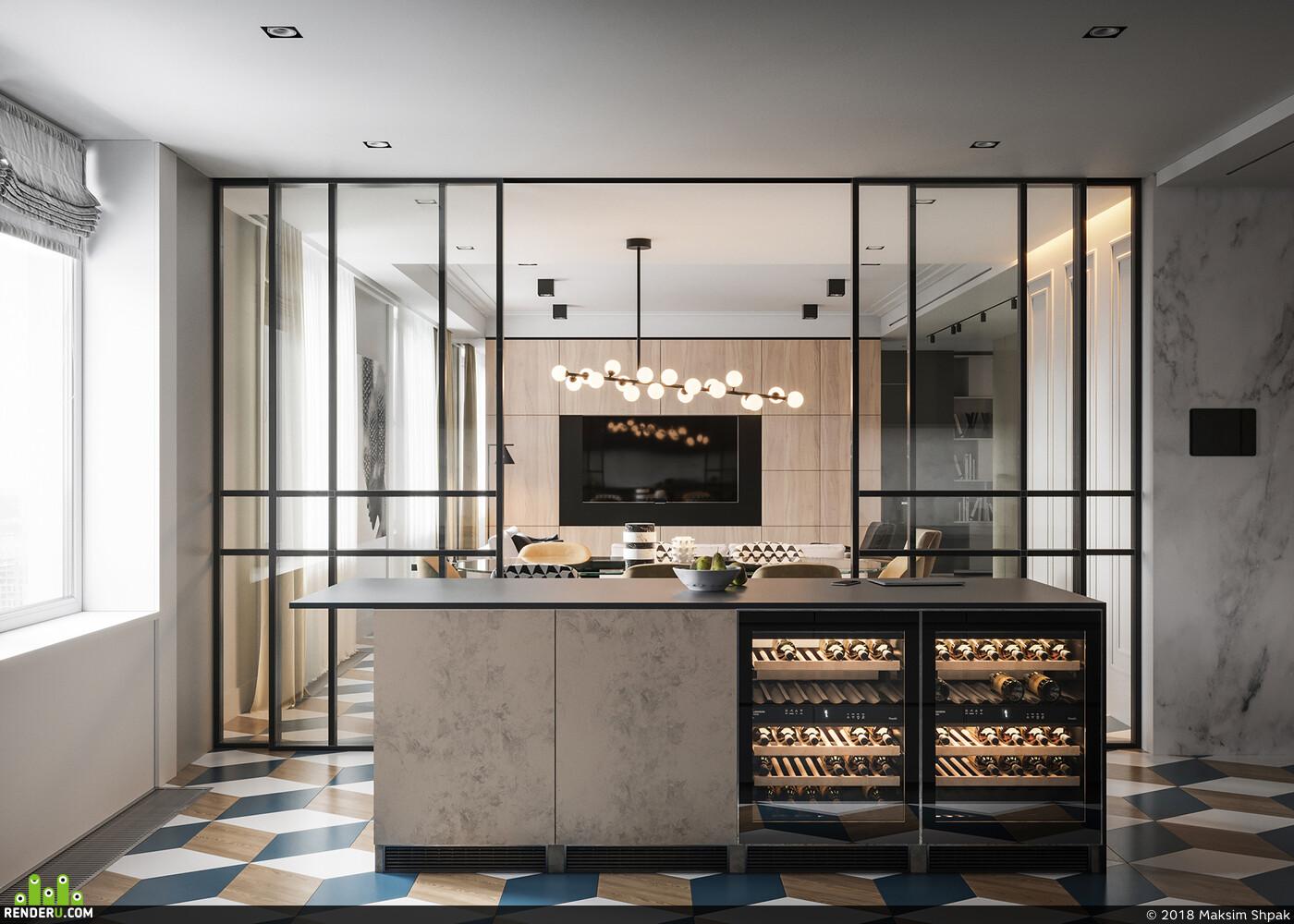 3ds max, interior interior design design 3D 3D Studio Max 3D архитектура интерьер дизайн интерьера интерьер, visualization, Corona Renderer, визуализация