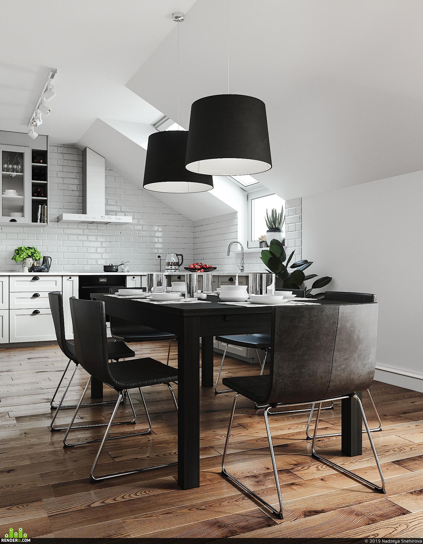 scandinavian, interior, interior design