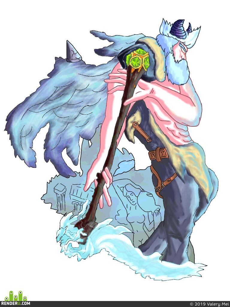 2D, Япония, pikachu, demon, angel, God of War