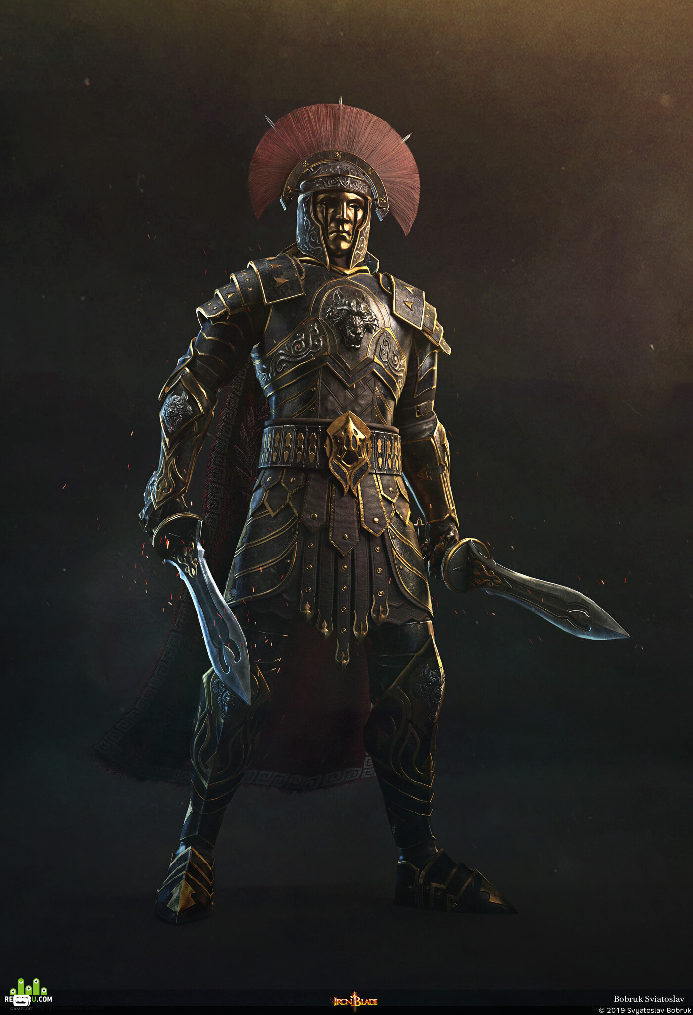 digital 3d, Characters, game art, illustration, Iron Blade, knight, epic