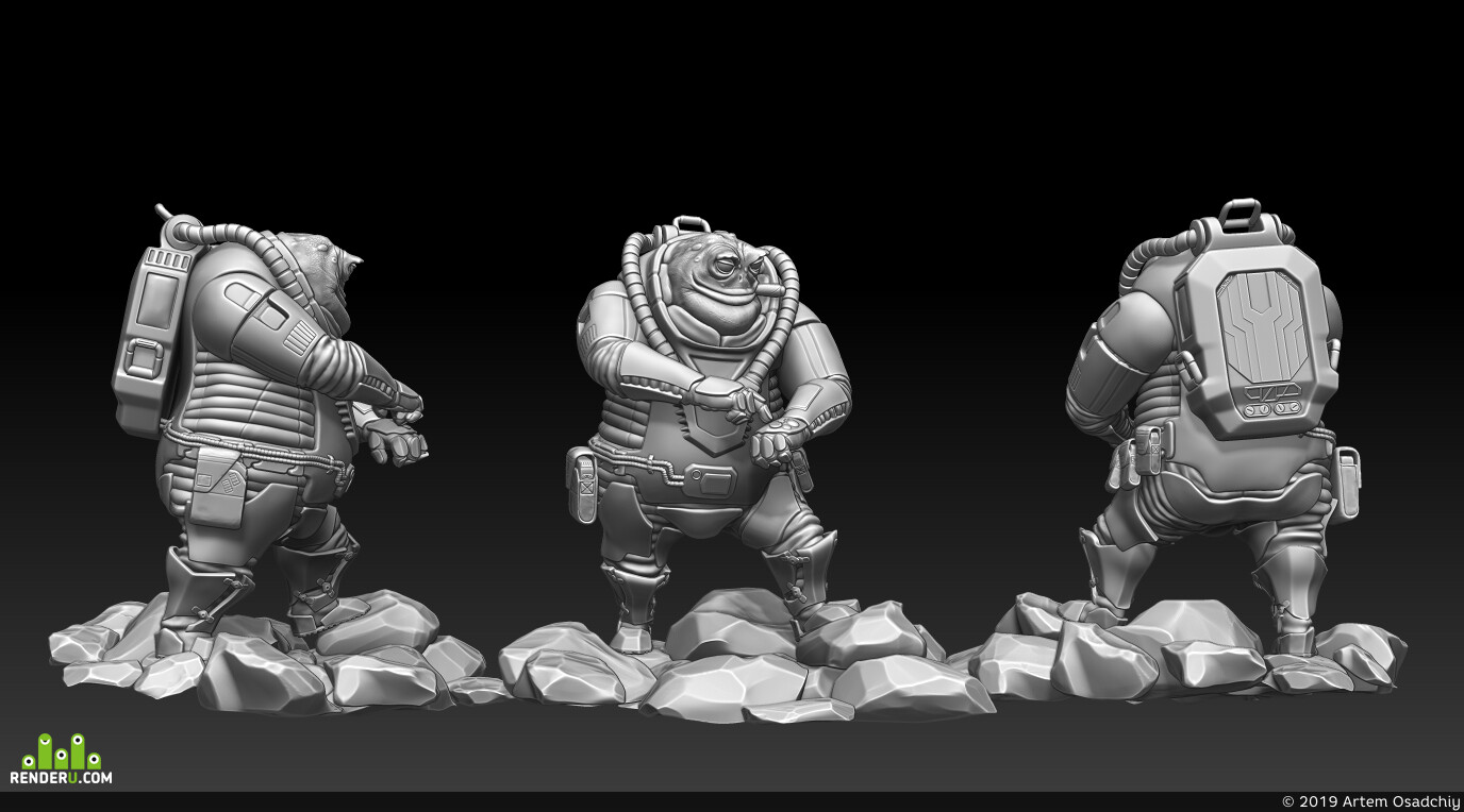 ZBrush, sculpting, modeling, 3dmodeling, 3d character, character, Maya, substance painter