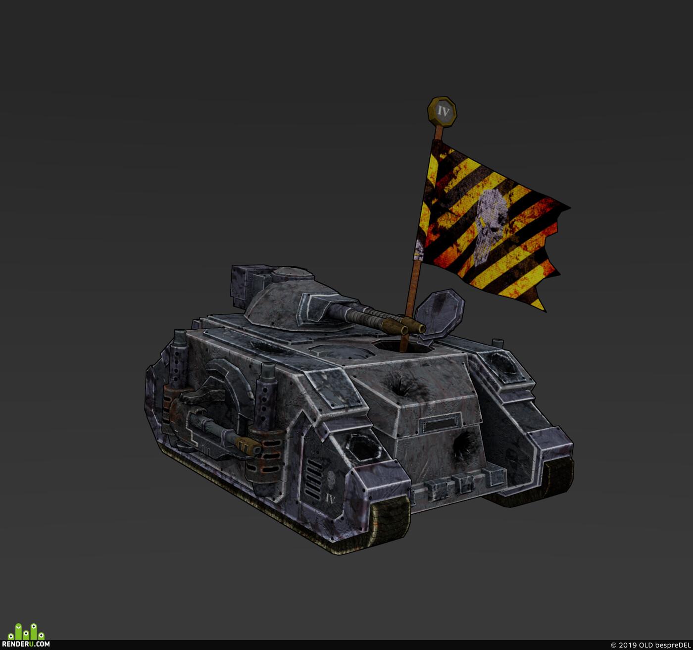 Warhammer40k, Deimos Pattern Predator, 3D Animation, Blender