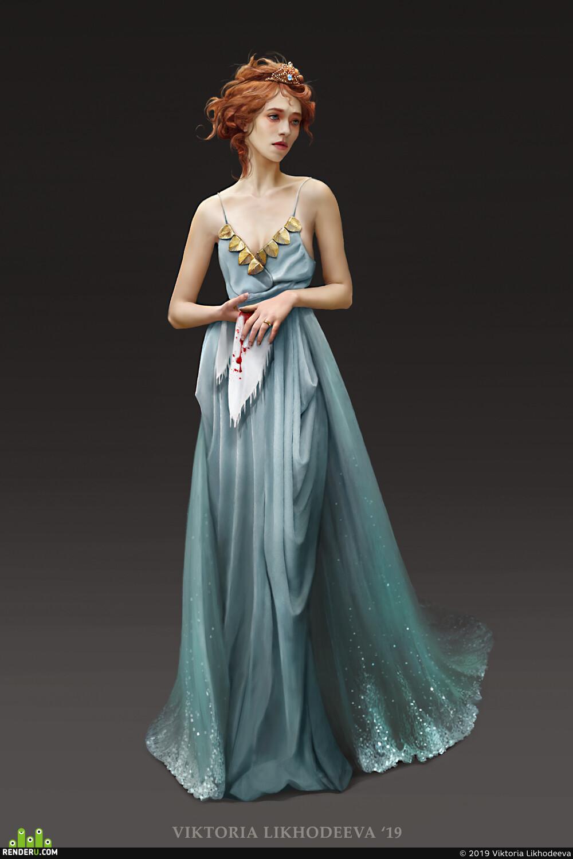 concept, ConceptArt, character, characterdesign, girl, Dress