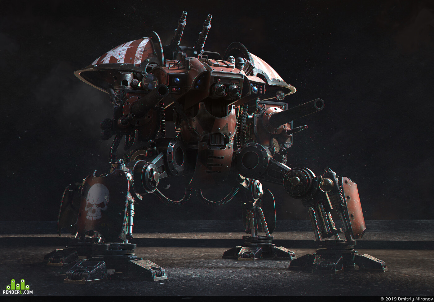 Digital 3D Characters Concept Art Science Fiction 3D Digital Concept Art Mech 3D Science fiction Sci-fi Sci-fi mech robot 3d character