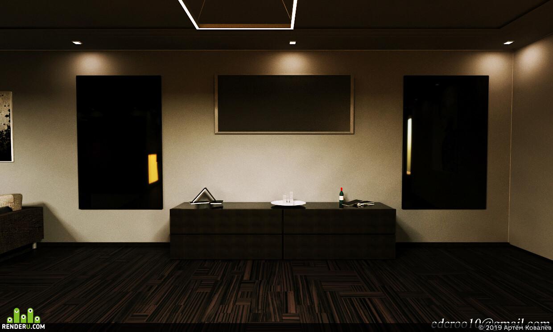 визуализация, архитектура, интерьер, корона, дизайнинтерьера, Интерьерная визуализация, визуализация интерьеров, элементинтерьера