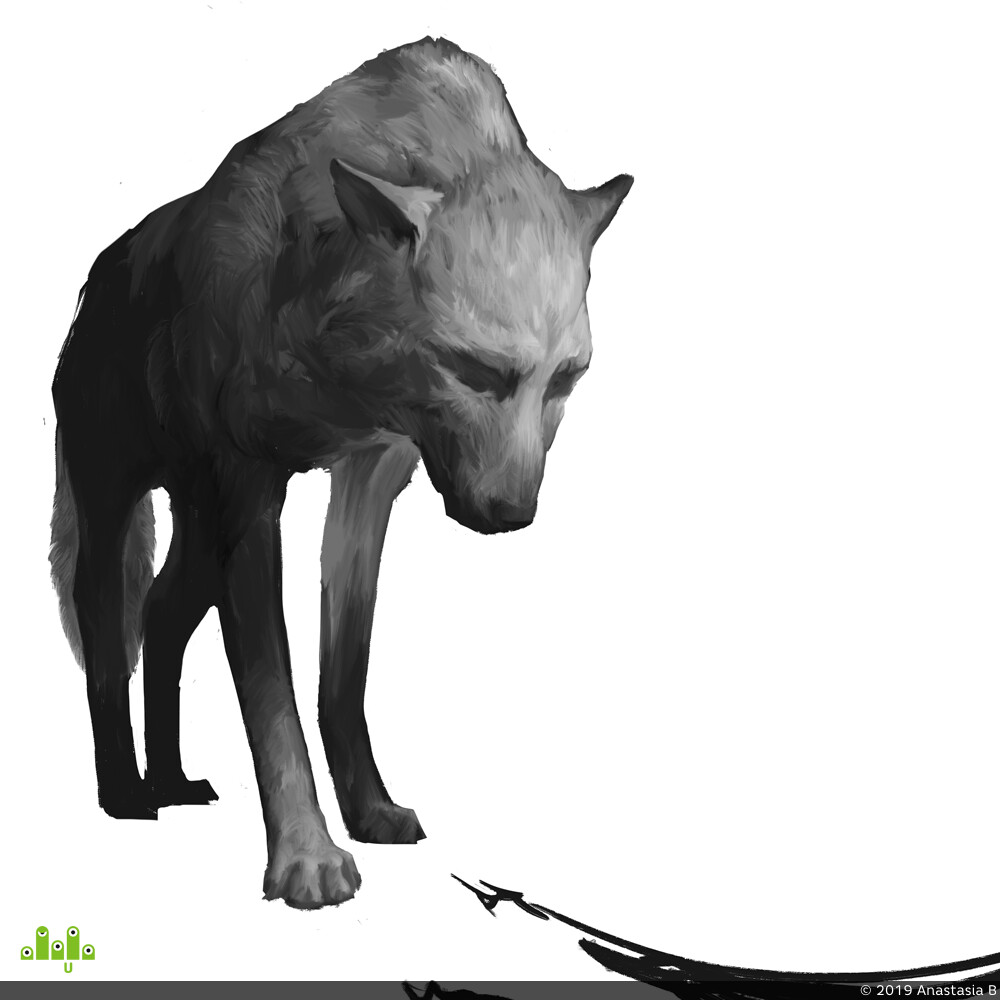 2D, illustration, иллюстрация, Животные, Волк, рысь, петух