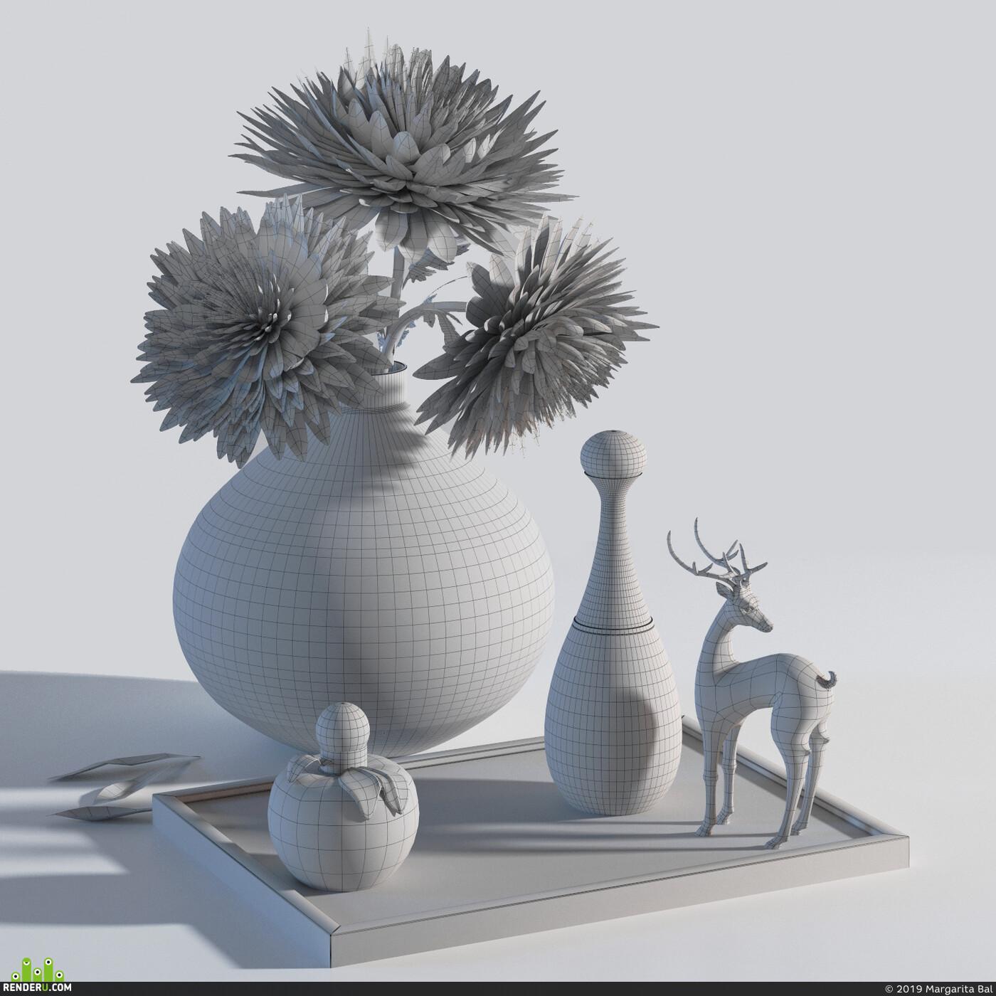 декор, дизайн интерьера, ваза, цветы, орхидея, парфюмерия