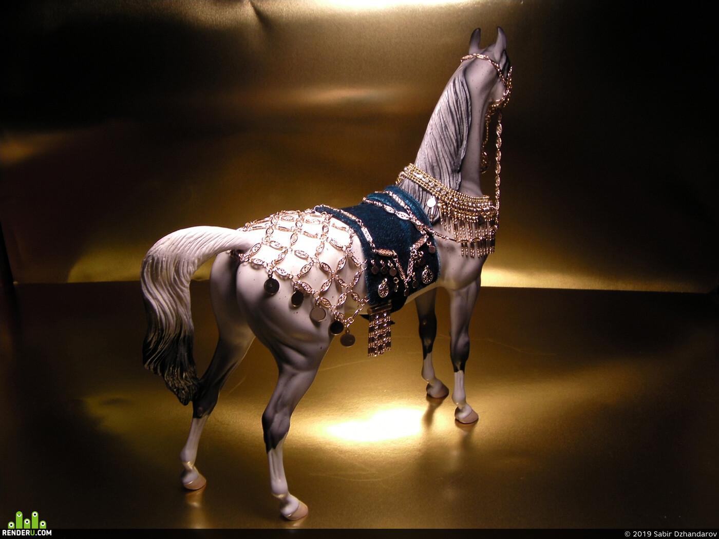 сбруя, Конь, упряжь, седло, султан