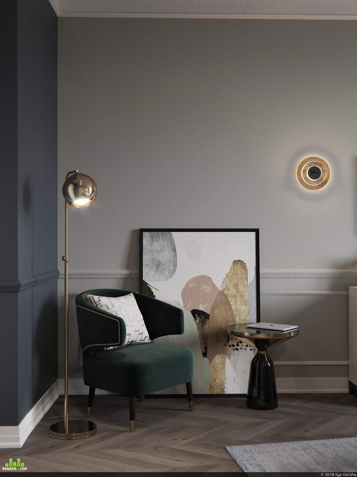 vizu, ganzha, interior design, designer, interior, rendering, Corona Renderer, 3ds max, Stockholm