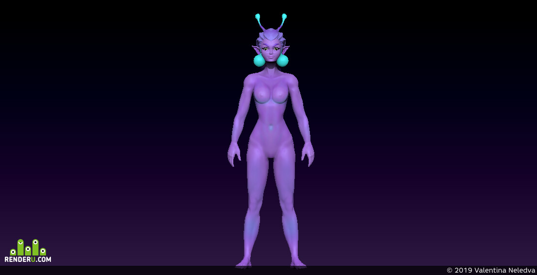 digital 3d, Characters, Fantasy, game art, high-poly, ZBrush, 3d