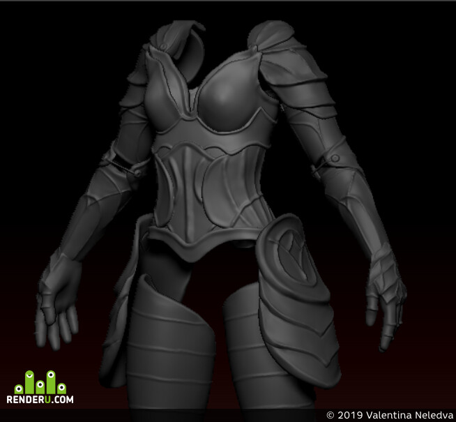 digital 3d, Fantasy, Concept Art, game art, 3d, ZBrush, high-poly