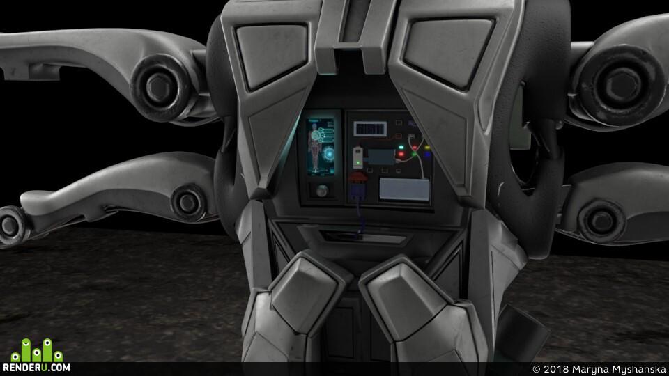 Arnold, job, 3D моделирование в MAYA, Курс по Maya, robot, Robotic, 3dmodeling