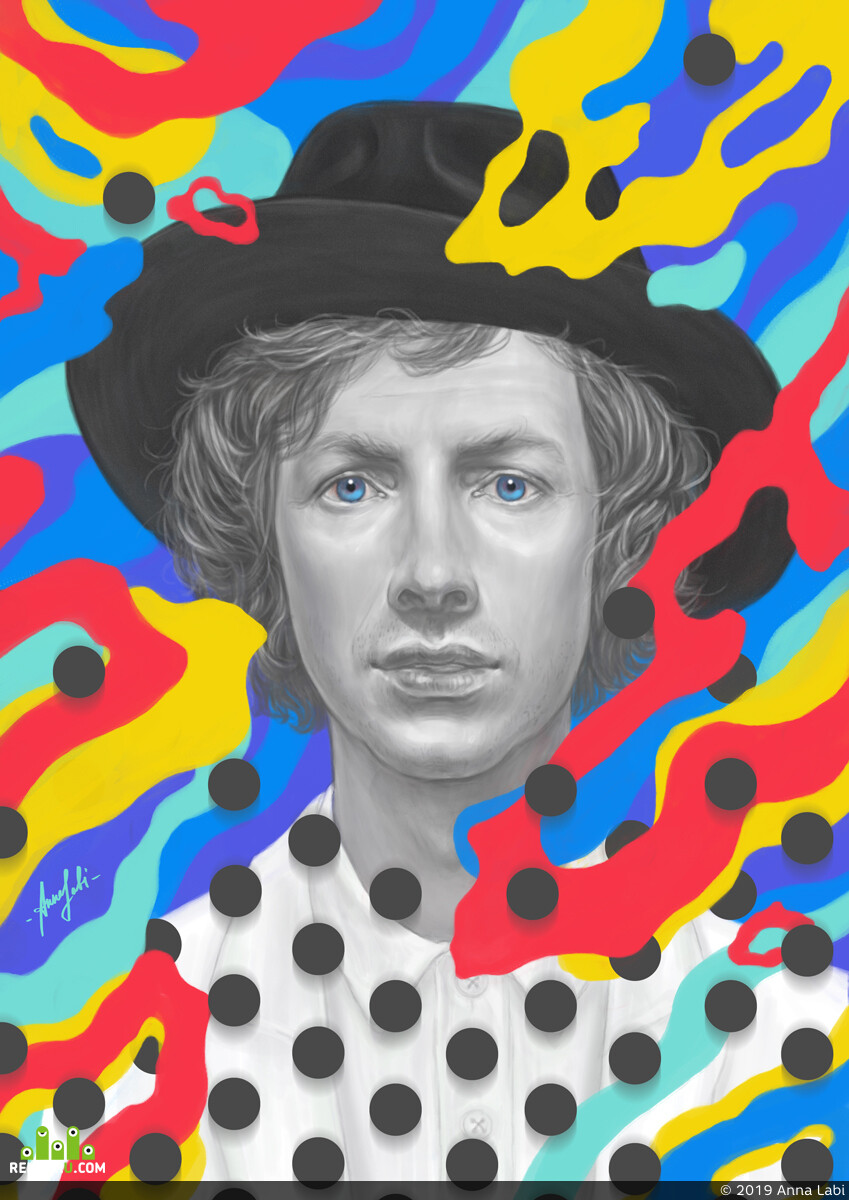 beck, art, DIgital painting, Digital 2D, portait, портрет, music, illustration, иллюстрация, Wacom