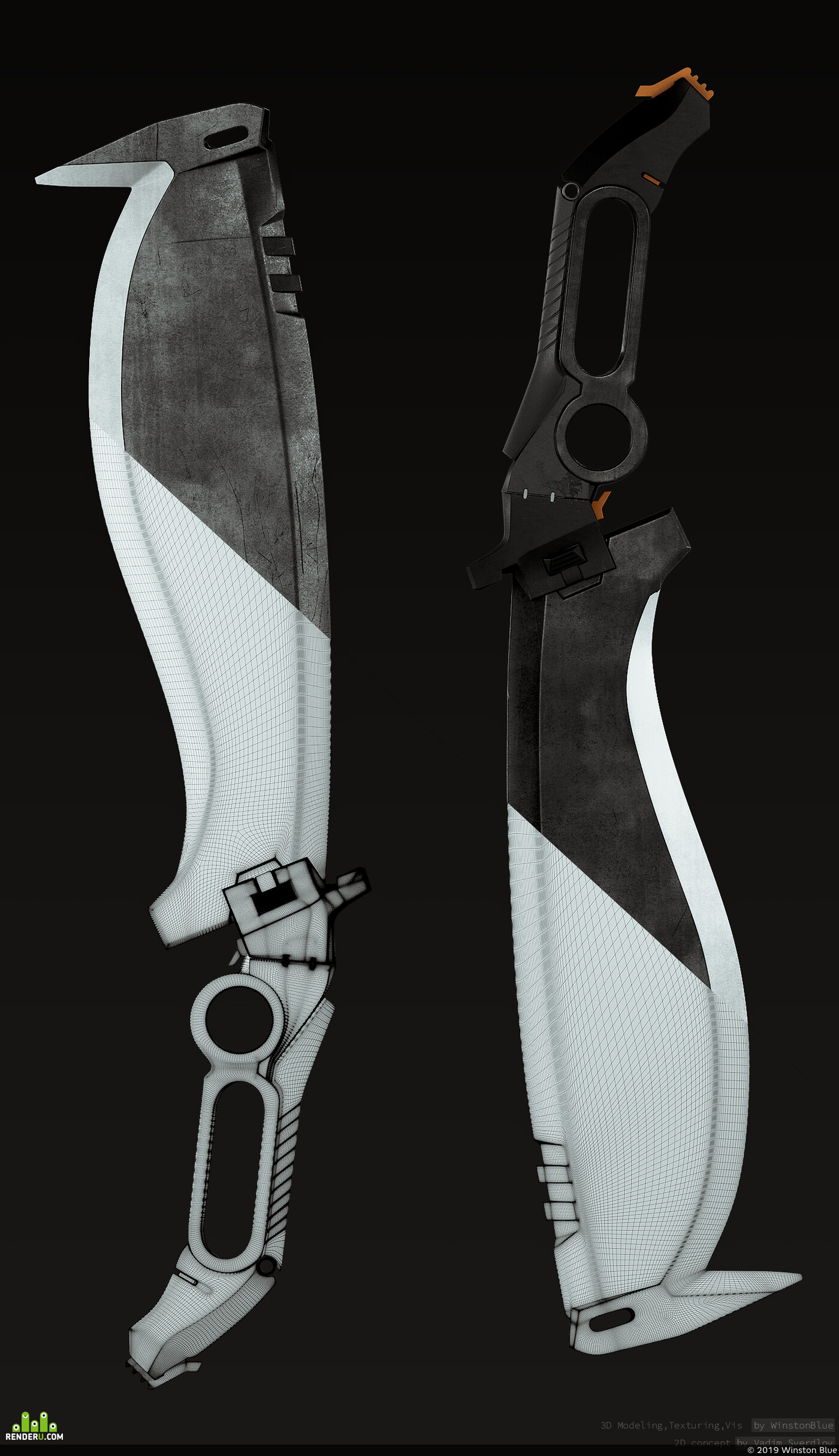 Weapons, weapon, future, sci-fi, blade, Hard-Surface