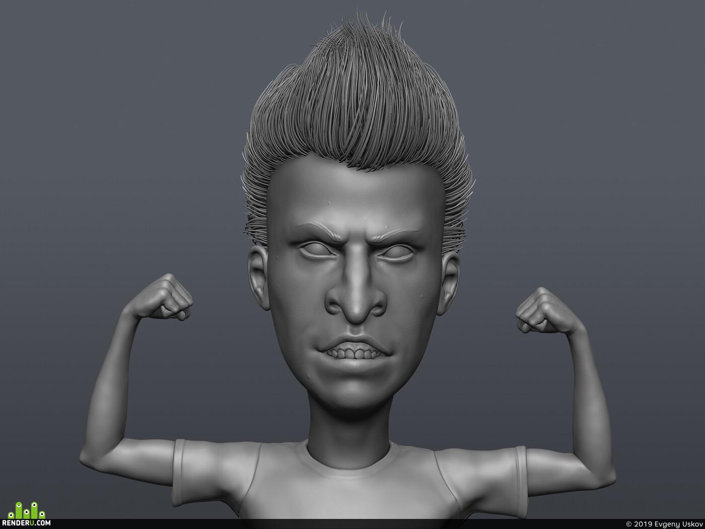 Beavis, Butthead, ZBrush, sculpt