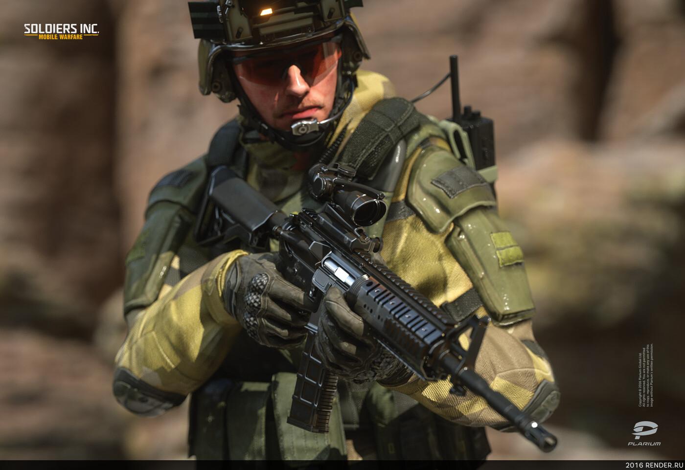 digital 3d, character, design_character, soldiers, Plarium