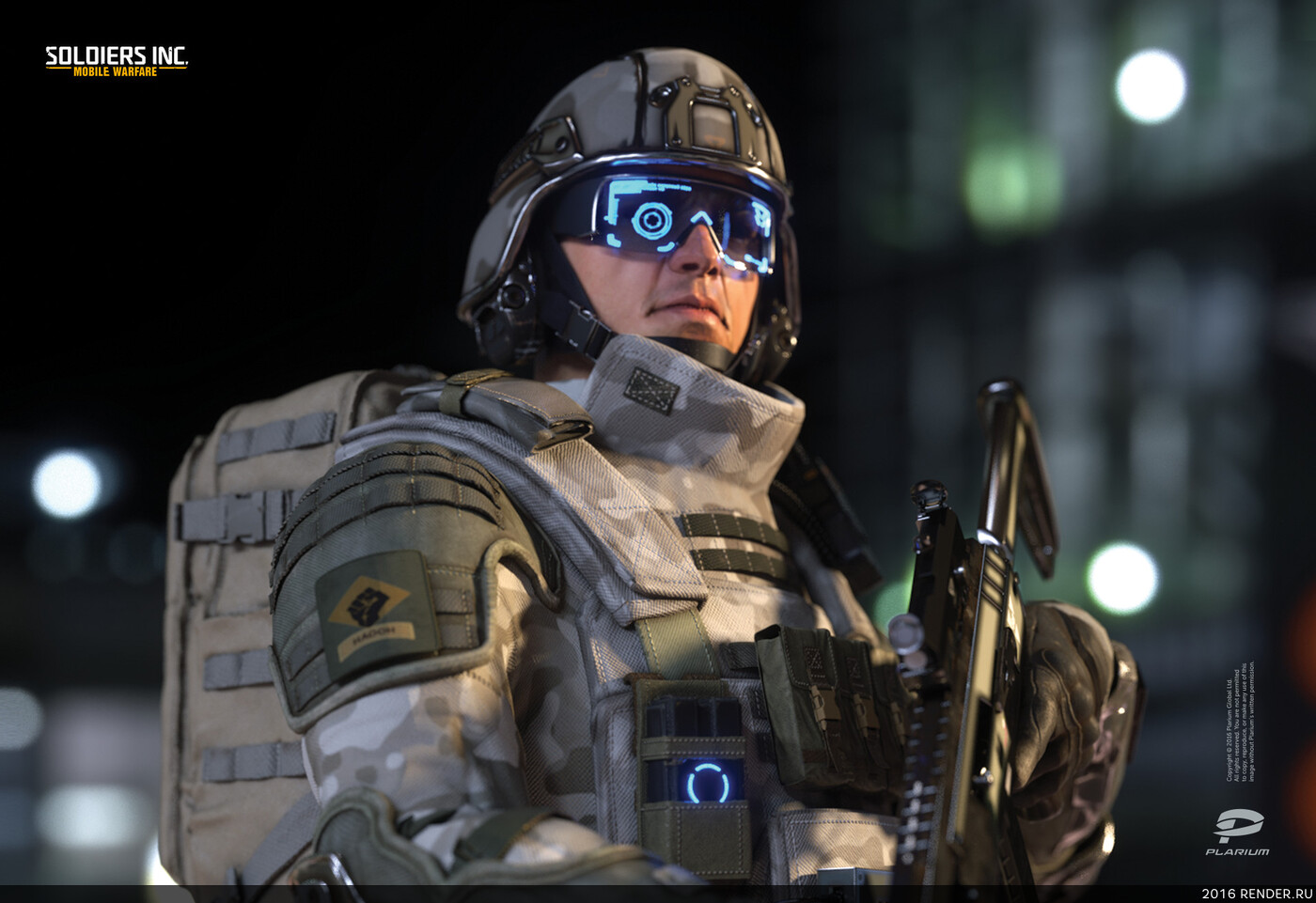 digital 3d, digital sculpture, character, soldiers, future soldiers, sci-fi, Plarium