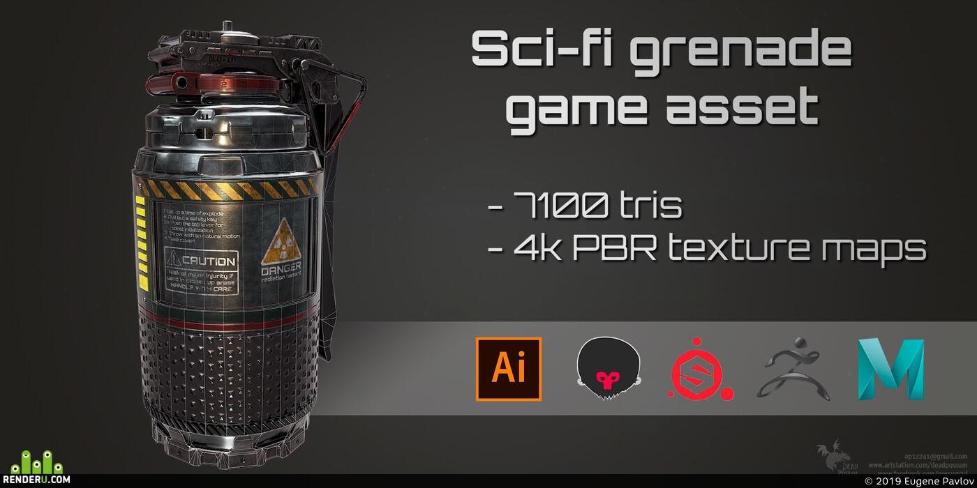 sci-fi, grenade