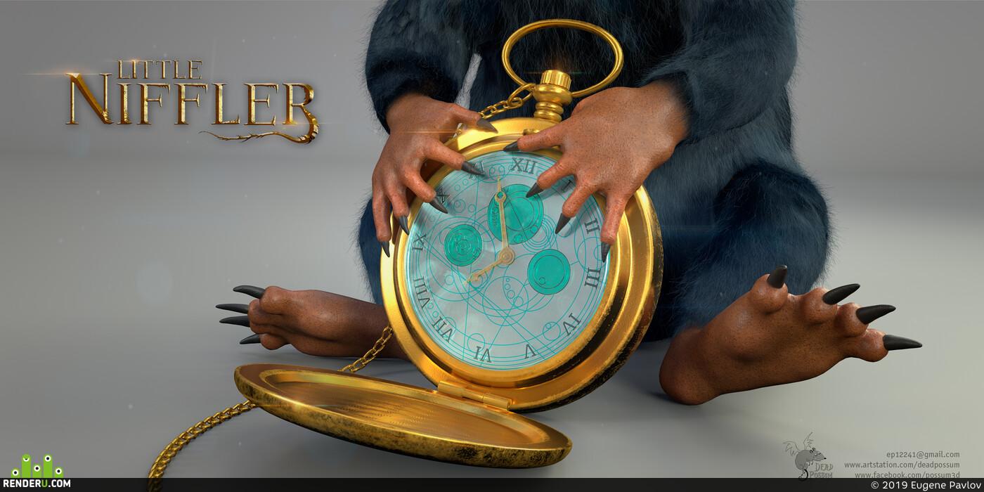 Niffler, Fantastic Beasts, Fantasy, creatures, watch
