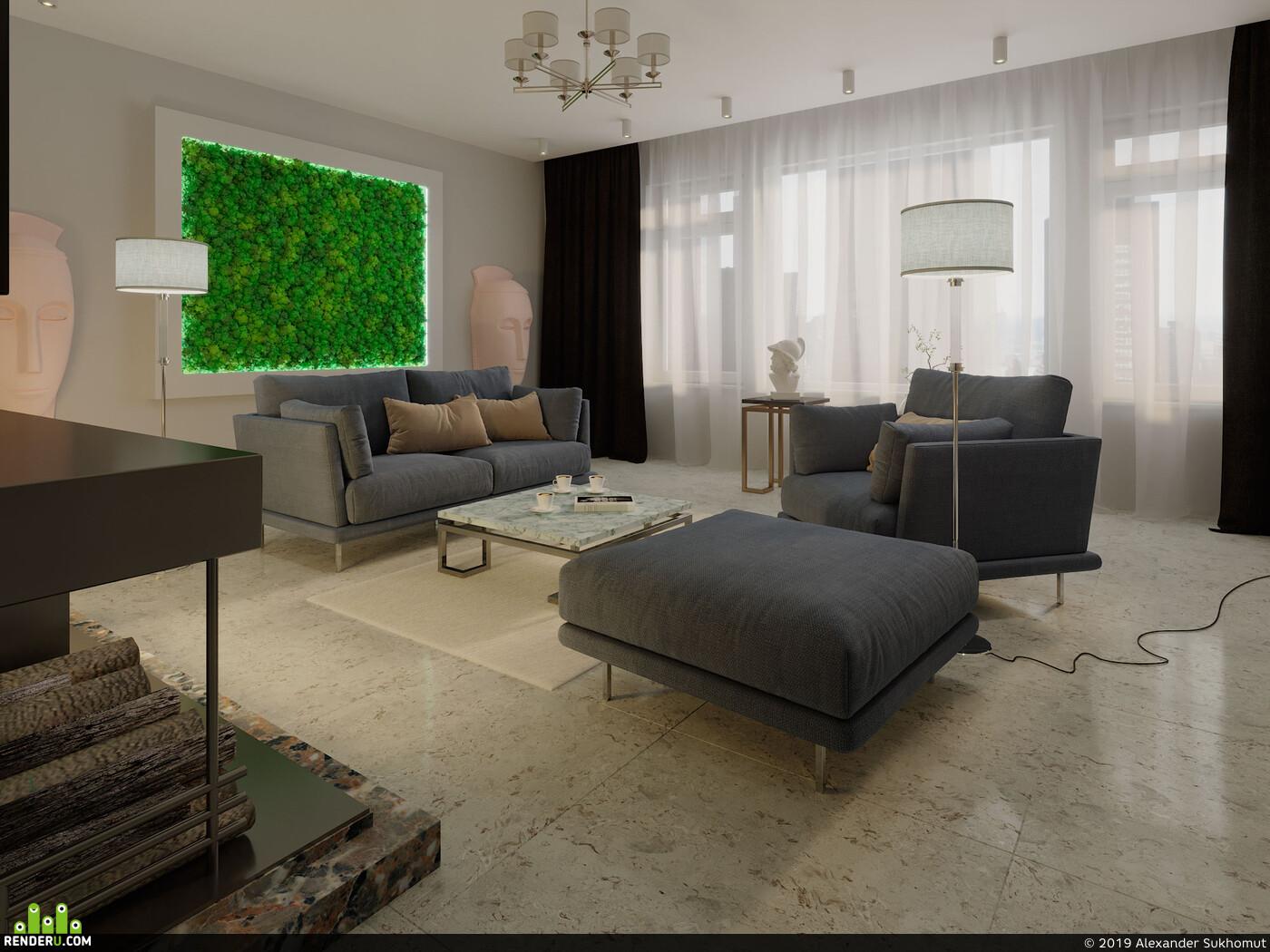 3ds max, 3D архитектура, дизайн интерьера