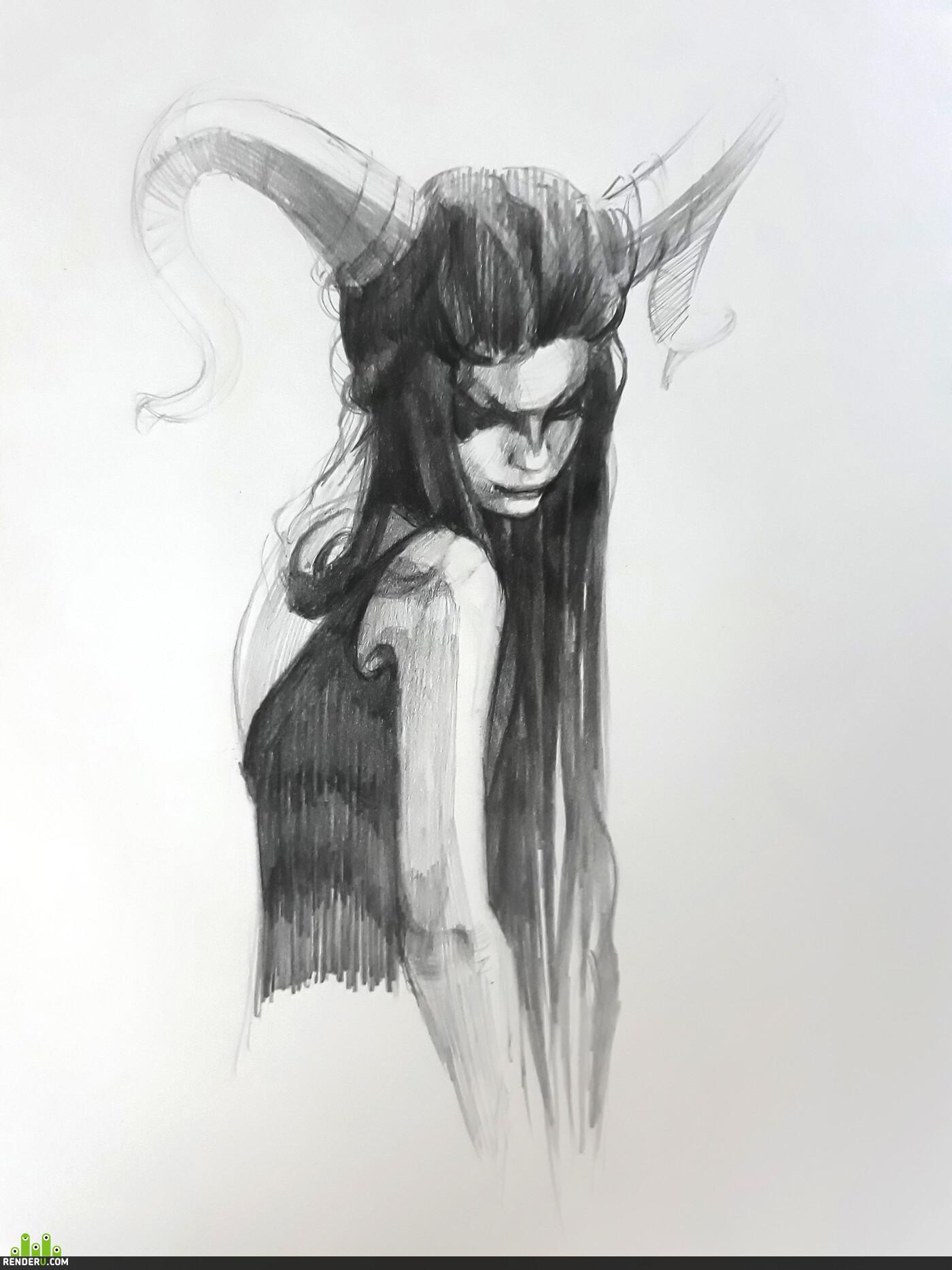 pencil sketches, pencils, Sketches, sketching