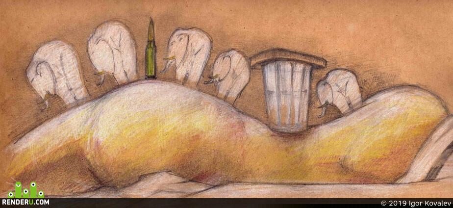 2D Арт / Традиционное искусство, иллюстрация