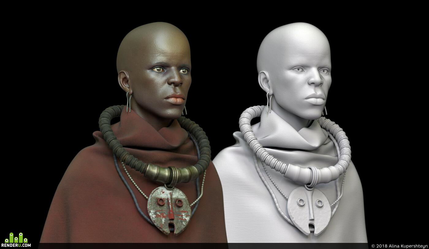 african, african woman, idol, totem, Mask, africa, amazonka