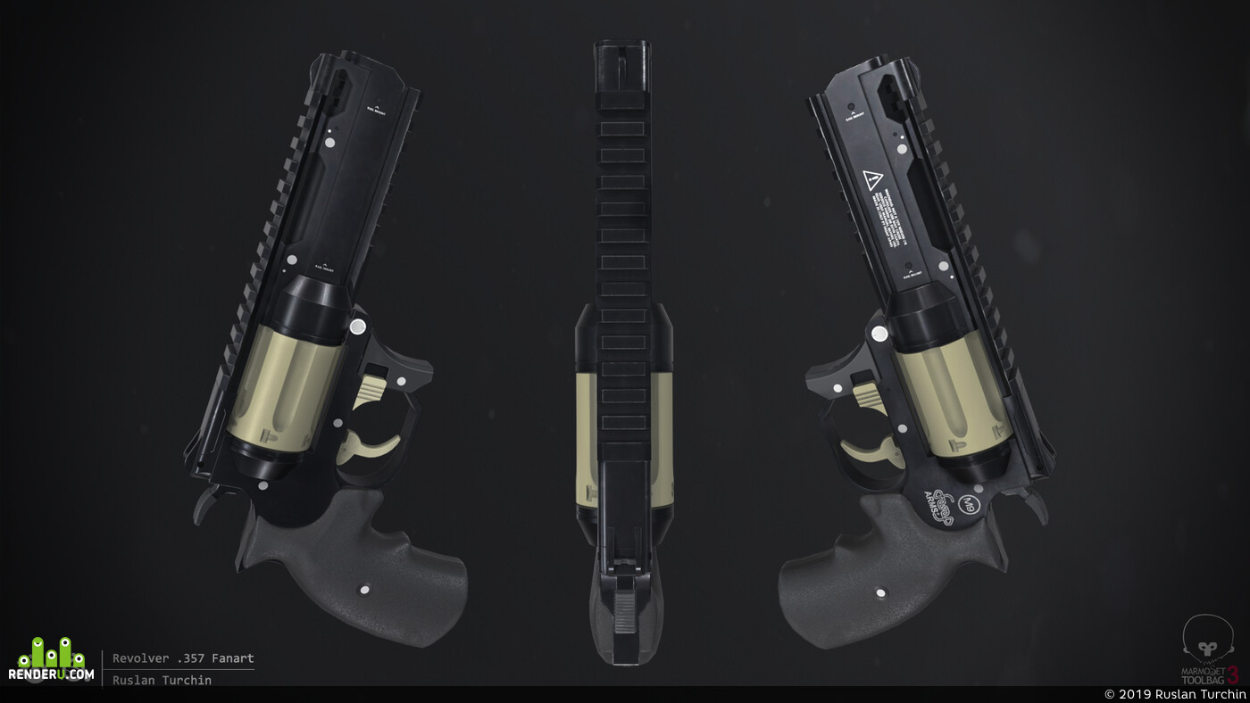 game art, Weapons, weapon, weapon sci-fi, fanart, revolver, 357