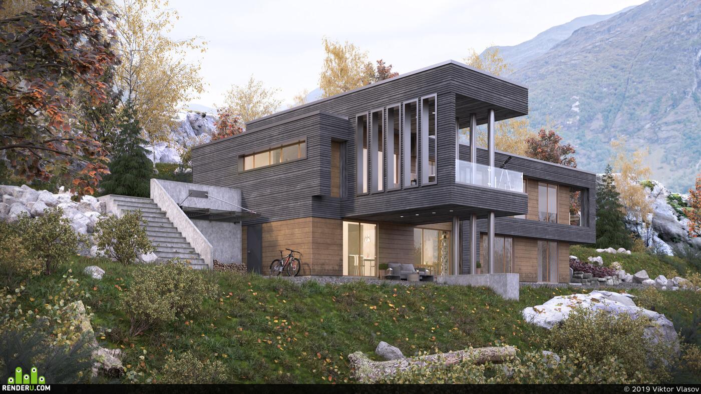 exterior., Exterior architecture, Exterior 3d visualization Corona Renderer corona 1.7 coronarenderer, archviz, architect