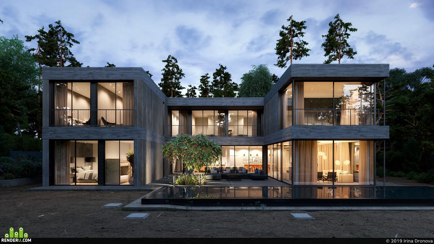 архитектура, 3д архитектура, визуализация, архитектурная визуализация, 3ds Max, Corona Renderer, Экстерьер