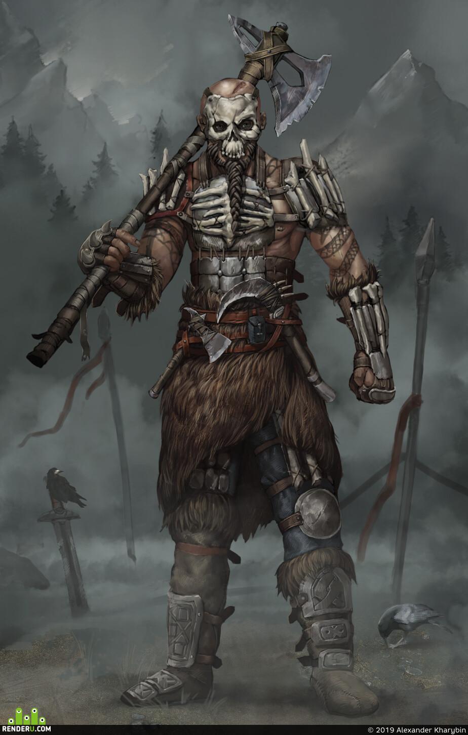 викинги, берсерк, Персонажи