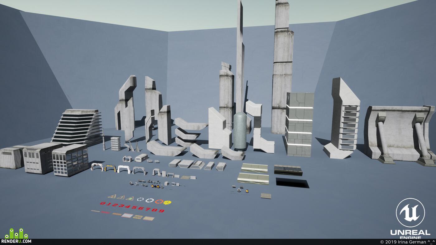 design, digital, environment, gameart, leveldesign, props, Unreal Engine, substance designer, substance painter, visualization