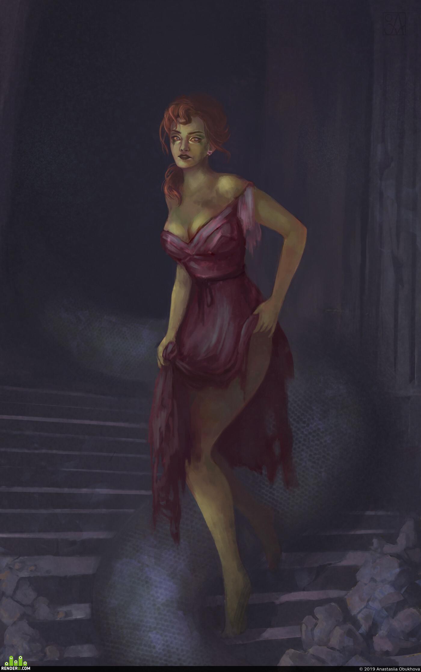 фотошоп, Компьютерная графика/CG, женщина, змея, иллюстрация