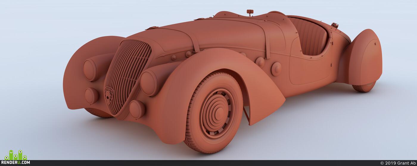 automotive, Cinema 4D, Vintage
