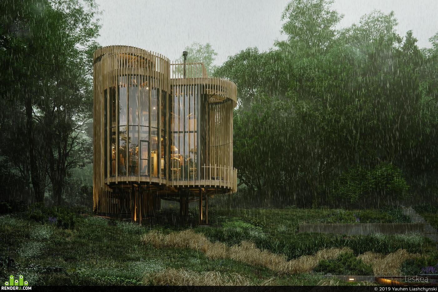 Exterior architecture, visualization