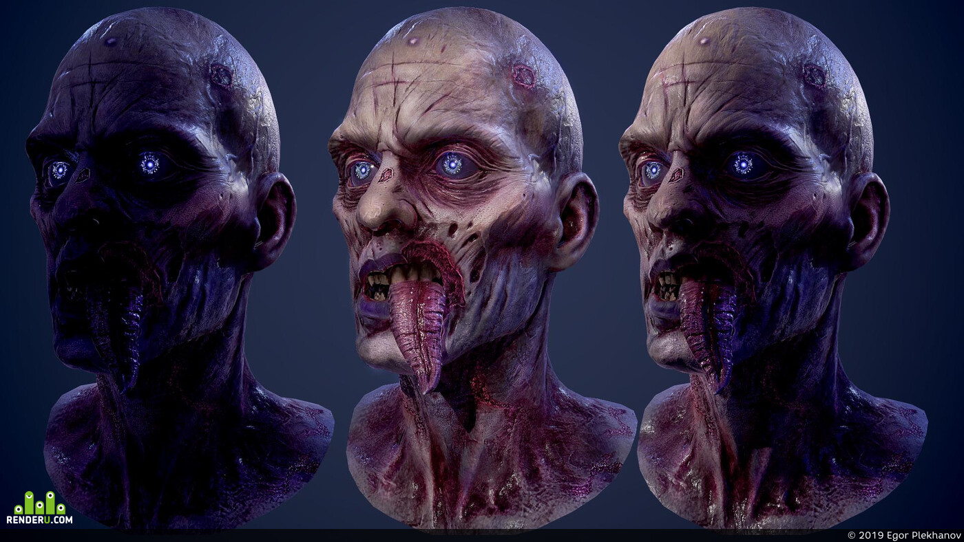 digital 3d, Characters, game art, creatures, character, sculpt, Zomby, ZBrush, monster
