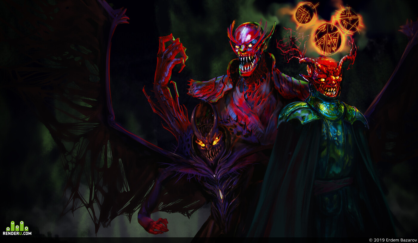 demon, diablo, mage, bone, team