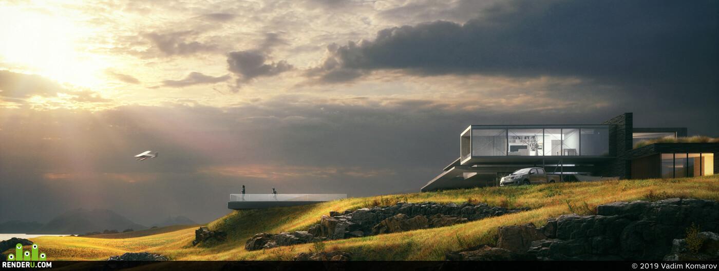 architecture, design, illustration, 3drender, render, Octane Render, Cinema 4D